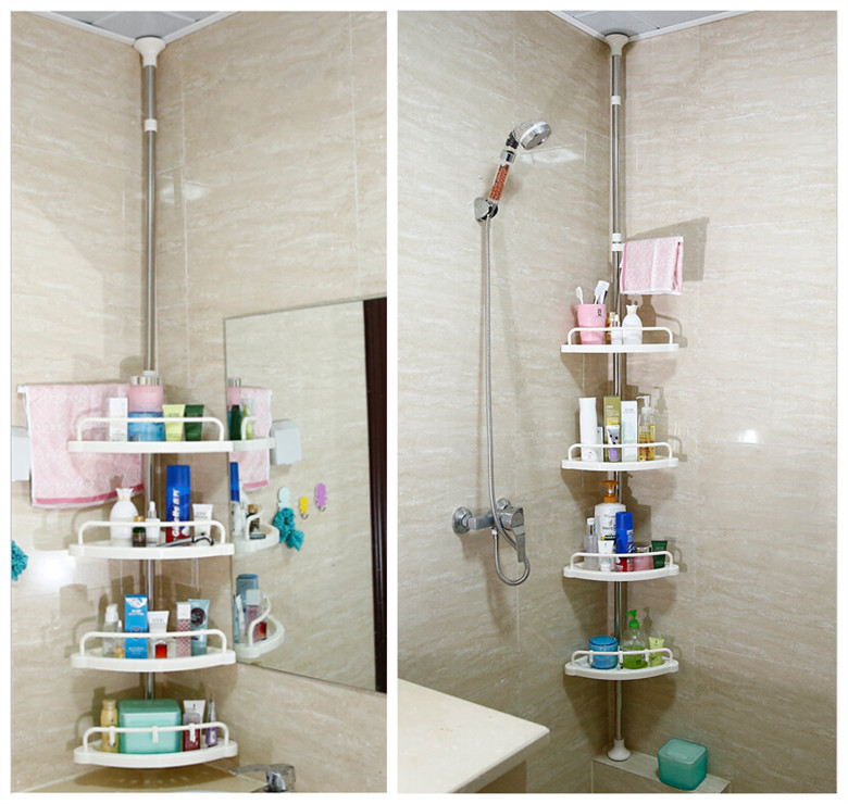 Bathroom-shelf-corner-shelf-stainless-steel-tripod-floor-storage-rack