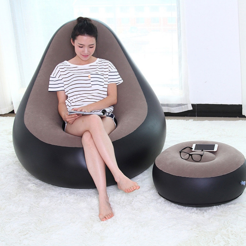 JILONG-Portable-Flocking-Fast-Inflatable-Lazy-Sofa-Sleep-Bed-Set-Foot-Cushion-Home-Garden-Furniture-Gray_800x800